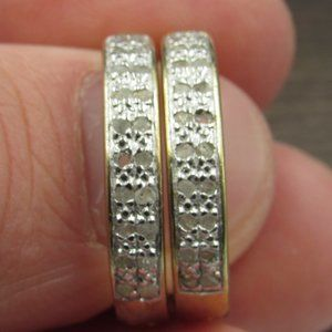 Sterling Silver Genuine Diamond Earrings Vintage